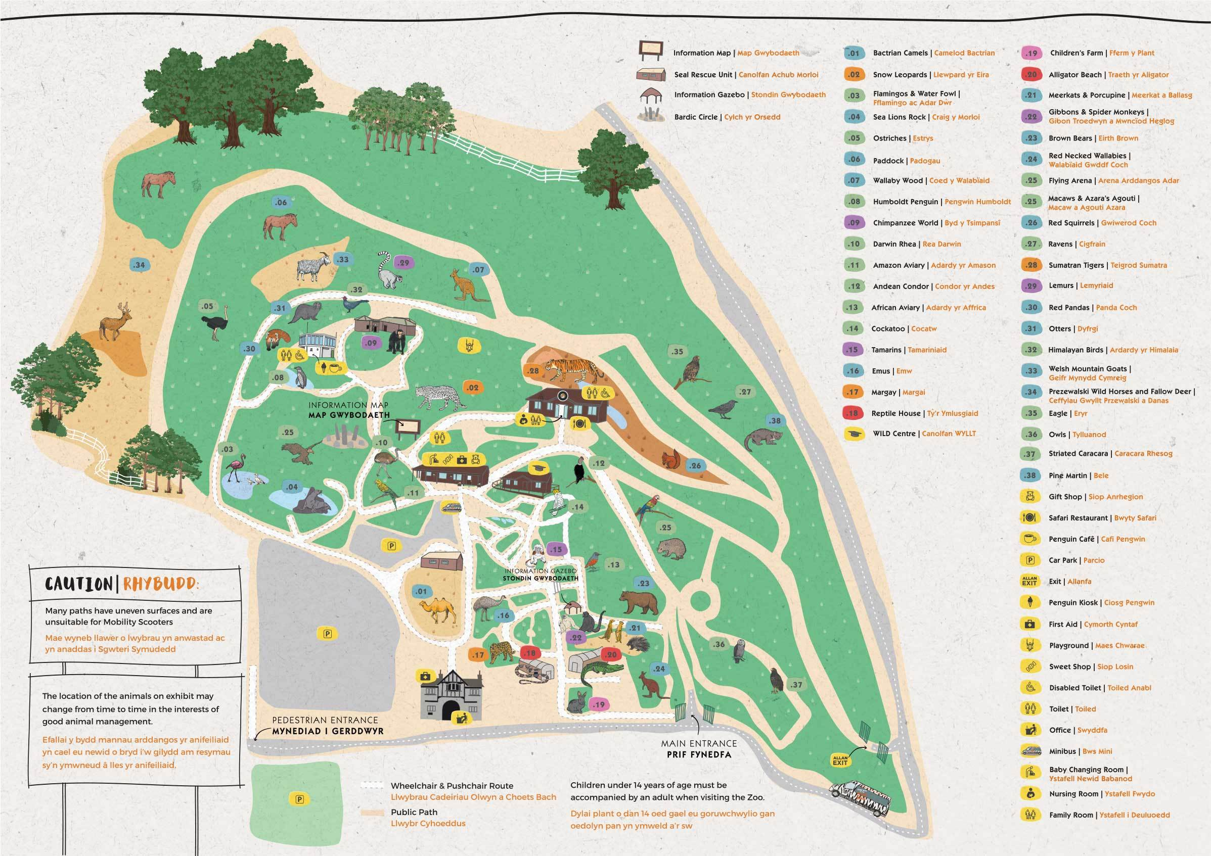 Information for visitors | Welsh Mountain Zoo on stadium map, bedroom map, community map, zog map, aquarium map, museum map, playground map, sense8 map, singapore map, world map, the 100 map, parks map, animal map, beach map, farm map, ocean map, neighborhood map, illegal wildlife trade map, big cat map, z nation map,